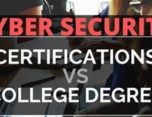 Cybersecurity Certification vs. Certificate vs. Degree?